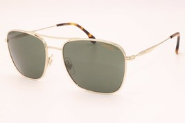 New Authentic Carrera 130/S J5G QT Gold Men's Sunglasses Green Lens 58-19-150 - $58.41