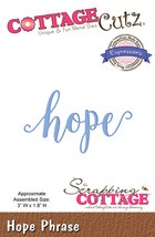 Hope. Cottage Cutz Die. Card Making. Scrapbooking