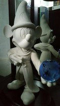 Extremely Rare! Walt Disney Mickey Mouse Fantasia Holding Glass Globe Fig Statue - $495.00