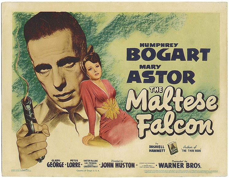 THE MALTESE FALCON POSTER 11X14 LOBBY CARD HUMPHREY BOGART MARY ASTOR RARE OOP - $24.99