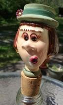 RARE Vintage Ceramic Carol Burnett Wine/Bottle Stopper - $39.95