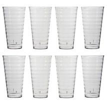 Splash 28-ounce Clear Plastic Tumblers   set of 8 Glassware Kitchen Dini... - $22.96