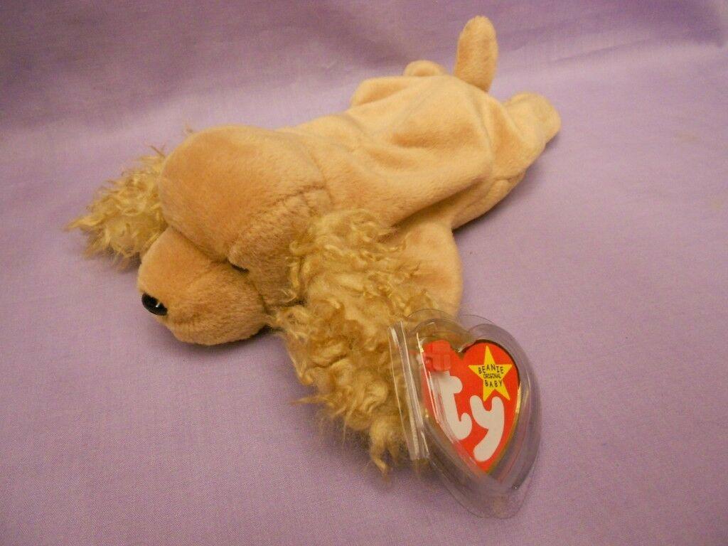 TY Beanie Babies Spunky Cocker Spaniel Tan Dog With Hang Tag Jan. 14, 1997
