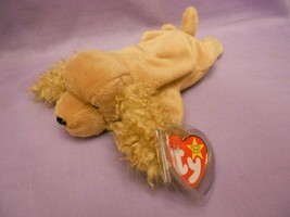 TY Beanie Babies Spunky Cocker Spaniel Tan Dog With Hang Tag Jan. 14, 1997 image 1