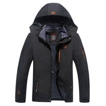 Newest design Jacket Men's Waterproof Windbreaker Warm Coat Men Large Si... - $74.70