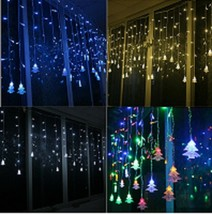 Colorful Christmas Lights Hanging Decoration Xmas Tree Led Design For Ho... - $32.79