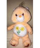 "Care Bears Friend Bear 2003 TCFC Peach Yellow Flowers Stuffed Plush 8"" B... - $12.86"