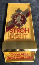 """Vintage Stroh Light Beer - Lighted Sign - Strohs 20"""" x 10.5"""" - $29.69"""