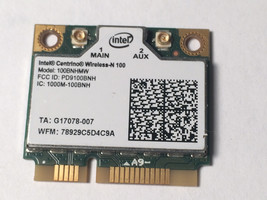 Intel Centrino Wireless-N 100 b/g/n 100BNHMW b/g/n PCI-E Half Mini WiFi ... - $5.88