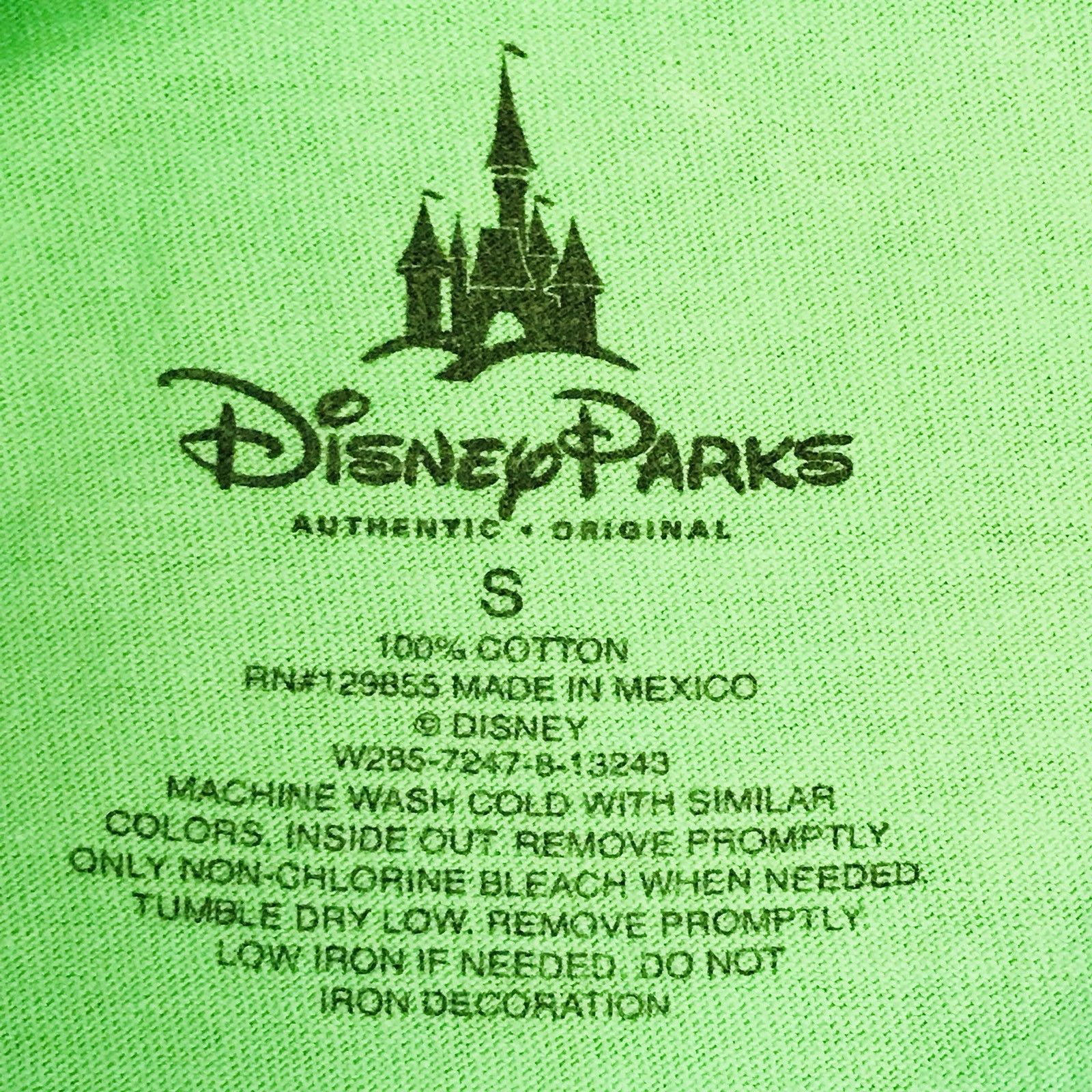 Disney T Shirt Mickey Pluto Walk Fire Hydrant Graphic Lime Green Size 12/14 EUC