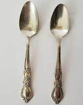 "1847 Rogers Bros IS HERITAGE Pattern Silver-plated Set of 2 Teaspoons 6 1/8"" - $9.99"