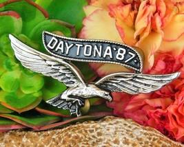 Vintage Daytona 1987 Motorcycle Rally Soaring Eagle Pin Jacket Biker image 3