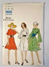 Vogue Vintage 7982 Loose fitting Semi Tent Dress Sewing Pattern Sz 14 Uncut 1971 - $28.70