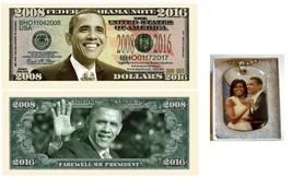 (5) Five Barack Obama 2008-2016 Commemorative Dollar Bills + Gift Boxed ... - $9.89