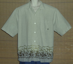 Pineapple Connection Hawaiian Shirt Light Green Ombre Design Size XLG - $19.79