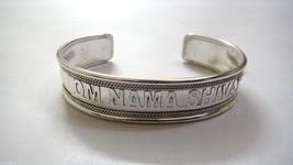 OM NAMAH SHIVAY -  Cuff Bracelet Wristlet Wristband Kada Kadaa - Shiny S... - $6.92