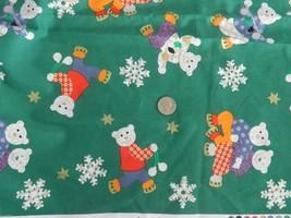 "3 Yards x 45"" JoAnn Fabrics Skating Bears Fabri... - $12.99"