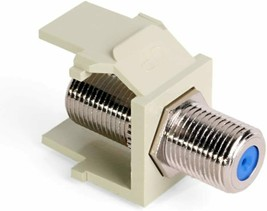 Lot of 6 Leviton 41084-FIF QuickPort F-Type Adapter, Nickel-Plated, Asst... - $12.00