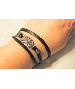 Leather Strap Wrap Bracelet - $16.00