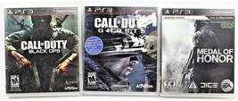 Lot Of 3 PlayStation 3 PS3 Games Call Of Duty Black Ops & Ghosts, Medal ... - $18.80