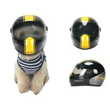 Small Motorcycle Safety Helmet For Pet Cat Dog Puppy Protect Bike Access... - $27.71
