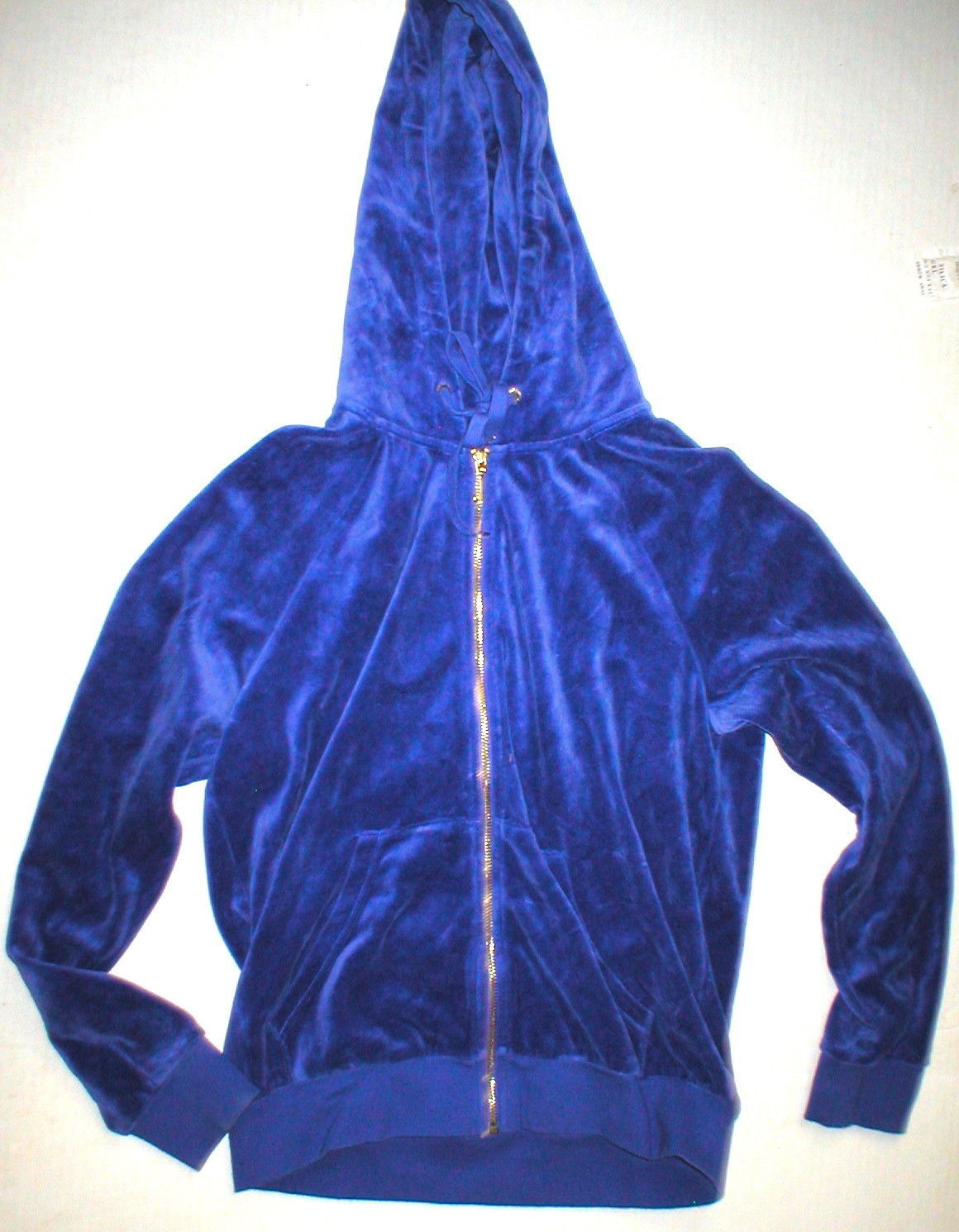 New Womens M Juicy Couture Velour Hoodie Purple Jacket Pretty M Bright Relaxed