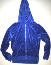 New Womens M Juicy Couture Velour Hoodie Purple Jacket Pretty M Bright Relaxed image 1