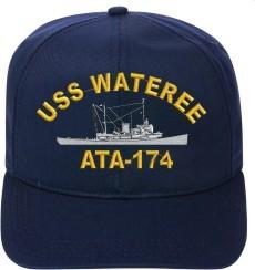 USS WATEREE ATA-174 Ball Cap New Ship Hat Ship Cap