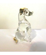 Pulled Glass Dog With Gold Ears and Tail - $14.00