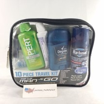 Convenience Kit 10 Piece Travel Kit for Men - TSA Compliant Carry-On Sizes - $14.99