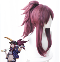 League of Legends LOL Akali Cosplay Wig Prop K/DA Daughter of the Void P... - $29.99