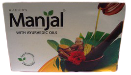 4 Bars Manjal Soap with Ayurvedic Oils w/ Neem Turmeric Hibiscus Sandalwood - $14.00