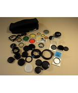 Canon Vivitar Minolta Camera Lens Filters Covers Polarizer Lot of 35 Rings - $77.55