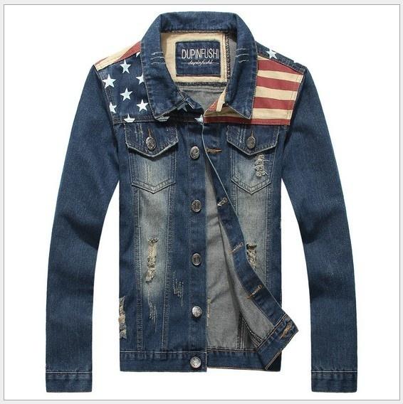 [Asia Size] Men's Fashion Korean Slim Fit Jeans Jackets Spicing Male Dress Coat