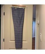 NWT TOPMAN Men's Blue Plaid Pants SZ 34L - $44.55