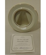 Lenox Handcrafted Fine China 24k Gold Memorable Round Frame - $16.41