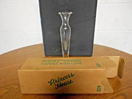 "Vintage Princess House 10"" bud vase heritage hand blown Crystal in orginal box - $18.81"