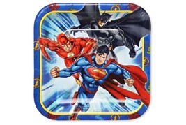 Justice League Dessert Plates by Amscan 8 Per Package Birthday Party Supplies - $5.44