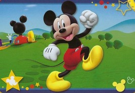 "MICKEY MOUSE DISNEY ORIGINAL DECORATIVE RUG SUPER SOFT (54""X80"") - $54.45"