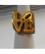 Vintage LOVE RING  Size 5.5 - $75.74