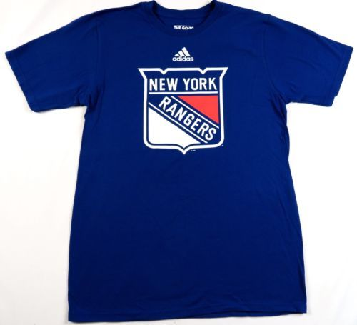 New York Rangers Shirt Men's NHL Primary Logo Tee adidas Cotton T-Shirt