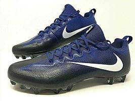 Nike Vapor Untouchable Pro Low Black/Blue Football Cleats Size 15 ( 8399... - $34.99