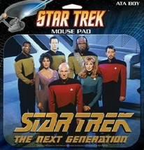 Star Trek The Next Generation TV Series Cast Photo Computer Mouse Pad NEW SEALED - $11.64