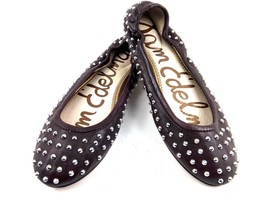 Sam Edelman Womens Ballet Flats 7.5 Forsyth Brown/ Burgundy Studded Spike  $120 - $44.37