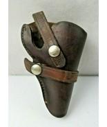 Viking #59 Vintage Hand Made Leather Gun Holster, Dark Brown With Heavy ... - $30.00