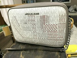 MICHAEL KORS SIGNATURE LONDON COLLECTION LG E W CROSSBODY BAG MSRP 298 - $74.25
