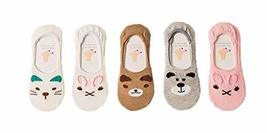 PANDA SUPERSTORE 5 Pairs Ms. Summer Stealth Comfortable Cotton Socks Thin Sectio