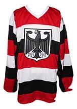 Custom Name # Team Germany Retro Hockey Jersey New Any Size image 1