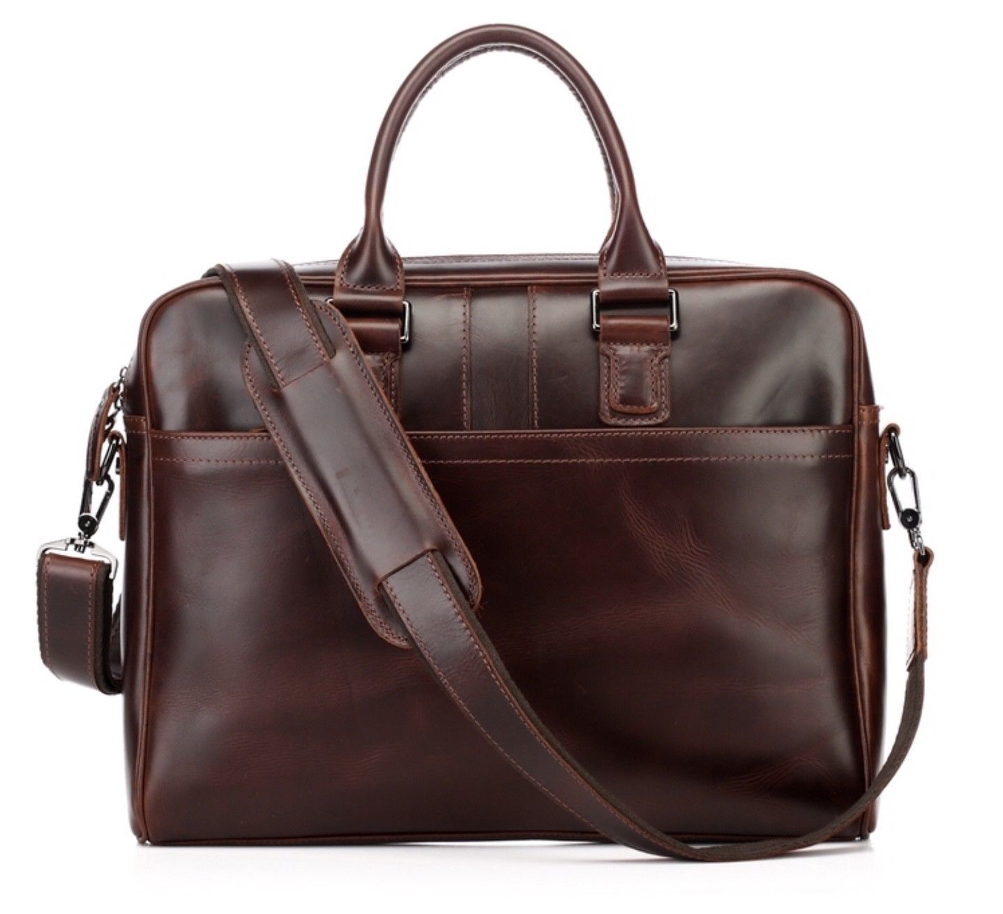 New Italian Leather Men's Bag Briefcase Messenger Bag Laptop Bag