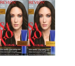 Revlon Salon Color 3 Natural Black Booster Kit Luminous 100% Gray Coverage x 2 - $18.06